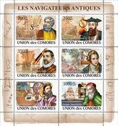 COMORES 2008 SHEET LES NAVIGATEURS ANTIQUES ANCIENT NAVIGATORS COLUMBUS COLON Cm8206a - Isole Comore (1975-...)