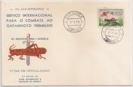Angola FDC 1963 - Serviço Internacional Combate Gafanhoto Vermelho Combat Contre Sauterelle Rouge -Carimbo Cancel Luanda - Angola