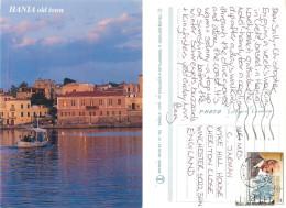 Chania, Crete, Greece Postcard Posted 1999 Stamp - Grecia