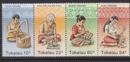 Tokelau Mi 74-77 Handcraftng - Wood Carving - Bow-drilling Sea Shells - Bowl Finishing - Basket Weaving - 1982 * * - Tokelau