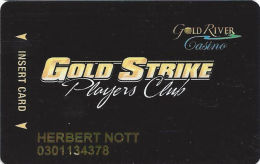Gold River Casino Anadarko, OK - Slot Card With Large Text On Back - Casino Cards
