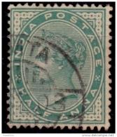 India, 1882-87, Queen Victoria, 1/2a, Scott# 36, Used - India (...-1947)