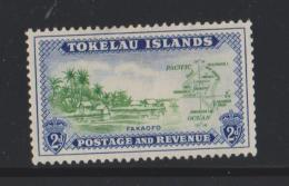 Tokelau Mi 3 Local Scenes - Fakaofo Shore Line - Map - 1948 - MH - Tokelau