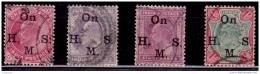 India, 1902-09, King Edward VII, Overprint  On H.M.S., Used - India (...-1947)