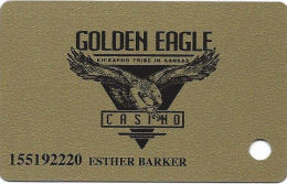 Golden Eagle Casino Horton, KS - Slot Card - 3rd Line Of Text On Back Starts 'This Card...' - Casino Cards