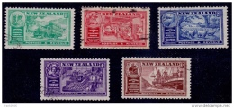 New Zealand 1936, Chambers Of Commerce, Scott# 218-222, Used - 1907-1947 Dominion