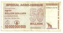 Zimbabwe 50 000 000 000 Dollars 2008 - Zimbabwe