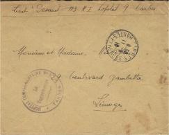 1918- Enveloppe En F M ( HOPITAL COMPLEMENTAIRE N° 9 - TARBES - Guerra De 1914-18