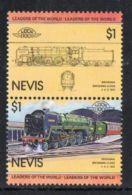 Nevis SG144a 1983 Railway Locomotives $1 Pair Unmounted Mint - St.Kitts Y Nevis ( 1983-...)