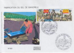 Enveloppe  FDC  1er  Jour    MAYOTTE   Sel  De  Bandrélé   2002