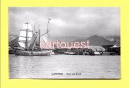 CPA RUSSIE GEORGIE BATOUM BATOUMI Vue Du Port Bateau Voilier ( Messageries Maritimes ) - Géorgie