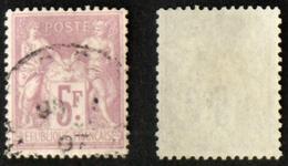 N° 95 5F SAGE Violet/lilas TB  Cote 90€ Oblit - 1876-1898 Sage (Type II)