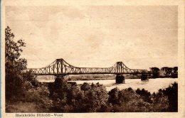 Wesel Büderich - S/w Rheinbrücke - Wesel