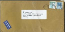 Hong Kong China Airmail 2006 $2, Little Egret, $2.50, Barn Swallow Postal History Cover Sent To Pakistan. - Swallows