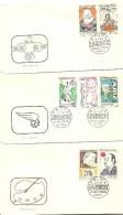 FDC 1968  UNESCO    PICASO,CHAPLIN E.HEMINGWAY........ - FDC