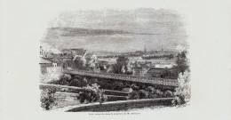 1841 - Gravure Sur Bois - Paris (16ème) - Passy - Le Pont Suspendu Dans La Propriété De M. Delessert - FRANCO DE PORT - Estampes & Gravures