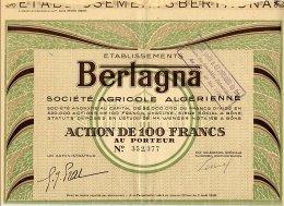 ETABLISSEMENTS BERTAGNA Societe Agricole Algerienne - Afrique