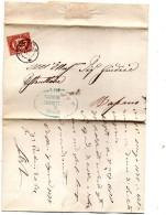 1875  LETTERA CON ANNULLO BASSANO VICENZA - Servizi