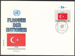 United Nations New York 1980 / Flags / Turkey