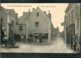 CPA - LE CONQUET - Place De La Pompe, Animé - Le Conquet