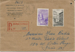 LETTRE RECOMMANDEE 1946 AVEC 2 TIMBRES - Covers & Documents
