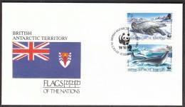 British Antarctic Territory 1992 / Flags / WWF / Seals - FDC