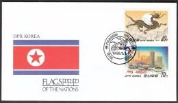 DPR Korea Pyongyan 1988 / Flags