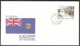 St. Helena Jamestown 1990 / Flags / School