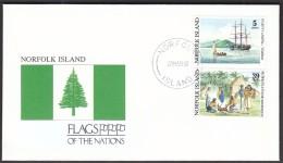 Norfolk Island 1990 / Flags / Bounty Ship