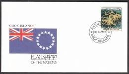 Cook Islands 1990 / Flags / Corals