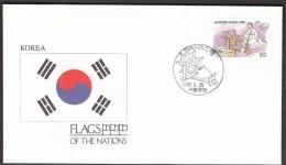 Korea 1990 / Flags