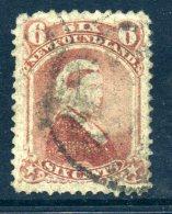 Newfoundland 1868-73 Definitives (p.12) - 6c Queen Victoria Used (SG 39) - Newfoundland