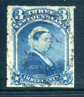 Newfoundland 1876-79 Definitives (Rouletted) - 3c Queen Victoria Used (SG 42) - Newfoundland