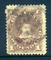 Newfoundland 1880-82 Definitives (p.12) - 1c King Edward VII When Prince Of Wales - Dull Brown - Used (SG 44a) - Newfoundland