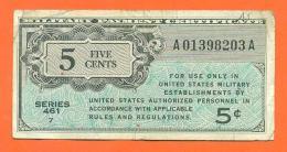 Etats Unis - Military Payment - Billet De 5 Cents - 5 Five Cents - 1946 - Serie 461