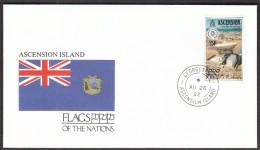 Ascension Islands 1992 / Flags / Satellite