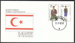 Turkish Cyprus Lefkosa 1992 / Flags / Ships / Turkish Cypriot Folklore