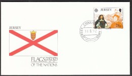 Jersey Channel Islands 1992 / Flags / Ships / Colombo / Discovery Of America / CEPT