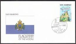 San Marino 1992 / Flags / Castle