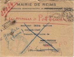 """29-6-1940- Recherche D'un Enfant  Dans La Nièvre """" TRANSIT MILITAIRE DE PORT-VENDRES """" - Marcophilie (Lettres)"""
