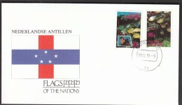 Netherlands Antilles  1991 / Flags / Anker / Fishes