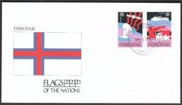 Foroyar 1991 / Flags / Satellite / Communication / Ship / CEPT