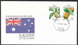 Cocos Islands 1991 / Flags / Fruits