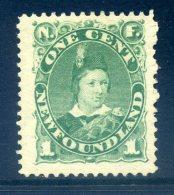 Newfoundland 1887 Definitives (p.12) - 1c King Edward VII When Prince Of Wales - Green - HM (SG 50a) - Newfoundland