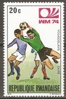 RUANDA    -   FOOTBALL  -   Neuf ** .  Yougoslavie / Zaïre - Coppa Del Mondo