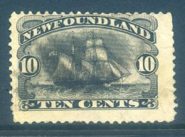 Newfoundland 1887 Definitives (p.12) - 10c Atlantic Brigantine Used (SG 54) - Newfoundland