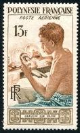 POLYNESIE 1958 - Yv. PA 1 *   Cote= 12,00 EUR - Graveur Sur Nacre ..Réf.POL23114 - Poste Aérienne