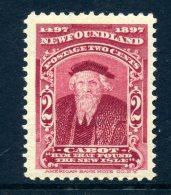 Newfoundland 1897 400th Anniversary Of Discovery Of Newfoundland - 2c John Cabot HM (SG 67) - 1865-1902