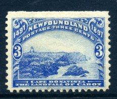 Newfoundland 1897 400th Anniversary Of Discovery Of Newfoundland - 3c Cape Bonavista HM (SG 68) - 1865-1902