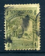 Newfoundland 1897 400th Anniversary Of Discovery Of Newfoundland - 4c Caribou Hunting Used (SG 69) - Newfoundland